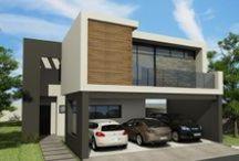 Casas, Construcción, Fachadas de Residencias / Fachadas de Residencias de Fraccionamientos de Grupo Agora