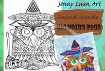 coloring page by JennyLuanArt / Mostly digital download PDF #coloring page created by Jenny Luan. #adultcoloringpage #coloringpage . They are hand drawn with digital tools.. I might have original art or art print. All copyright are belong to JennyLuanArt. If you like to support artist by buying art work, please visit my esty shop https://www.etsy.com/shop/JennyLuanArt sharing is also helpful, thank you for visiting my coloring page board