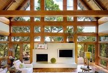 | Living & Family Room | / Living and Family Room Inspiration, especially anything rustic or rustic-modern. / by Mountain Modern Life