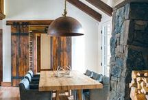| Mountain Modern | / rustic, log cabin and mountain home inspiration, especially anything rustic-modern