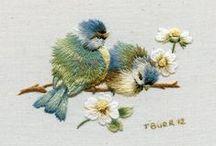 Haft ~ malowane  Igłą