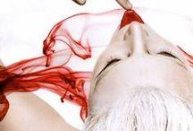 ~ CZERWIEŃ  i  BIEL ~ / moda , biżuteria , kwiaty, kolor czerwony i biały