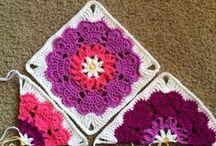 Квадратные мотивы / вязание крючком   crochet   squares   motifs