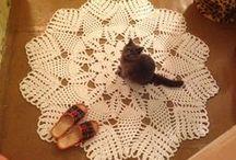 Коврики и сидушки / вязание крючком   crochet   carpets   rugs