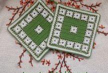 Прихватки и салфетки / вязание крючком   crochet   napkins   table-napkins   potholders   placemats   coasters   kitchen stuff