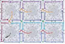 Безотрывное вязание / вязание крючком   crochet