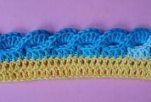 Кайма крючком / вязание крючком   crochet   border   edge banding