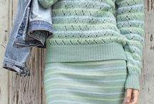 Костюмы и юбки - спицы