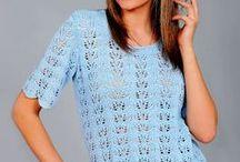 Блузы - спицы