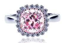 Pink Sapphire CZ Collection / A collection of spectacular pink sapphire cz rings.