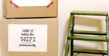 Umzug-Lettering mit eBay Kleinanzeigen / Auf dem Blog könnt ihr unsere Lettering-Vorlagen herunterladen und für euren Umzug verwenden