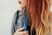 Hair style, Hair colour so... what I would do with my own if i had a courage