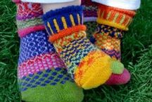 "Solmate Mismatched Knitted Socks / "" Life is too short for matching socks"".  A little something fun for your feet. Whether you wear them all day at work, save them for snuggling up on the couch or use them to help keep feet warm at night, a pair of Solmate knitted socks is a unique gift that's sure to bring a cheerful smile to the wearer. They have been 'mismatched with care' and are wonderfully comfortable, totally unique, eco friendly (knitted from recycled cotton), easy to wash and hard wearing. Visit www.indigobluetrading.com"