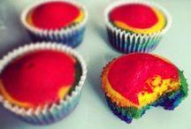 Rainbow Cupcake / Deliciosos cupcakes a todo color