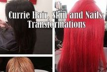 Before and After Makeovers by Currie Hair Skin Nails / Hair transformations created by the artists of Currie Hair Skin Nails.