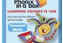 Phonic cards / Colourful boxes of playing cards to teach learners to match letters and sounds.