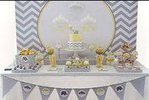 Aniversário Infantil: Neutro / Separei algumas decorações neutras de  festa infantil, para servir de inspiração para vocês. Espero que gostem =D Observação: Todas as imagens foram compartilhas no próprio Pinterest.