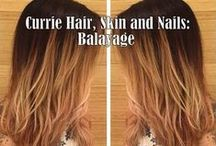 Balayage by Currie Artists / Trend-setting balayage and hand-painted highlights created by various Currie  Hair Skin Nails artists.