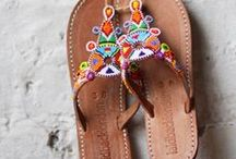 Leather Beaded Sandals / Inject some colour into your summer look with these handcrafted leather sandals with beautiful beaded detailing and high quality leather. Made the old fashioned way, by hand, in East Africa with locally sourced leather, these stunning sandals quickly soften up with wear and mold to the shape of the foot.