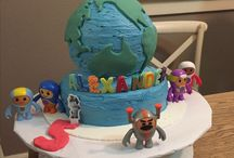 Go Jetters 5th Birthday Party / Go Jetters Birthday Party. Globe Birthday Cake  - Used continent cookie cutters Globe balloons  Go Jetters activity pages Go Jetters DVD - Volume 1 World Map based on Opera House episode  Party Box with colouring pages, world globe stress ball and lollies.  Happy Birthday Banner purchased from Esty download, printed  and laminated