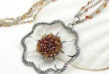 Moja biżuteria / Biżuteria wykonana techniką wire-wrapping ze srebra i pięknych minerałów.