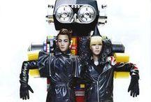 Minho & Taemin Vogue photoshoot / Robots, bright colours, futuristic, koreans