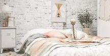 Bedroom Ideas / Design and decor ideas to make over an existing main bedroom or building a new bedroom.  Country cottage or farmhouse style. Scandinavian style.  Coastal beach chic.  Simple, whites. textures, wood, natural products.