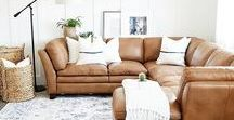 Living Room Ideas / Ideas and inspiration for changing the look of a plain or dated living area or lounge room or family room.  Types of seating, wall colors and decor, how to arrange the room, what to include, the use of wood.  Industrial and country farmhouse style.  Relaxed, inviting and warm living areas.
