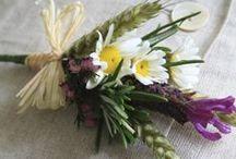 Sweet buttonholes / Natty ribbons & pretty florets