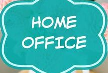 Home Office Design / Home office design & ideas on a budget! A creative work space for men and for women.  Organizing a small layout for two.  DIY Desk.  Modern, contemporary, rustic or white decor.   Organization.