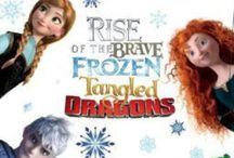 R.o.t.B.F.T.D / Pins of the Big Four & Rise of the Brave Frozen Tangled Dragons Fandoms. (B.T.W. I don't ship Jackunzel or Merccup I ship Jelsa.) :) / by Sarah Lessard