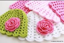 Baby Crochet For Sale / Hand crocheted baby blankets, baby hats, headbands for sale.  Please visit my Etsy shop for more info ***** https://www.etsy.com/shop/CrochetedByLyubava?section_id=14435873&ref=shopsection_leftnav_2 / by Lyubava Crochet