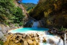 Giresun Mavi Göl / Yemyeşil doğa içinde sodalı sudan oluşan masmavi bir gölet