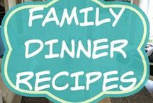 Family Dinner Recipes / Healthy simple meals for the busy Mom, for families and for kids.  Includes crockpot or slow cooker, vegetarian, with hamburger, with chicken, pasta, Asian.  On a budget.