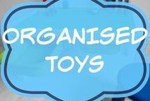 Organised Toys / Ideas and ways for parents on how to organize the kids toys in bedroom, in playroom, in living room, in small space and in closet or wardrobe.  DIY or Ikea.