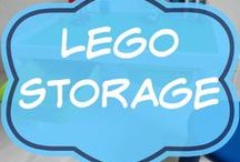 Lego Storage / LEGO storage ideas and DIY solutions.  Types of Lego table.  Finished.  For display or organization of kids' Lego collections.  For example; under bed, portable, bag, boxes, containers, by set, by color, for girls or boys, Ikea, Kmart.