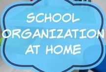 School Organization For Home / Organising ideas for all things school related at home.  Desk or homework area.  Storage for school bags etc.  Morning routines.  Organization of clothes.  Tis for daily schedule.  Back to school ideas, resources and products.  From toddlers to teens.