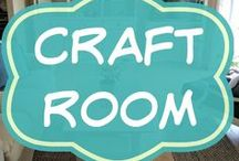 Craft Room Ideas / You need a creative space with beautiful organization for all those sewing, craft and art projects etc.  Storage ideas | Ikea hacks | shelves | design and layout | on a budget | small | boho | office | makeover | pegboard | scrapbooking | dream room