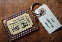 Pins, keyrings, costume jewellery & magnets / Products from The Forgotten Library made using original vintage book pages and papers.  Includes trial and on sale items.  Keyrings (keychains), magnets, hairgrips (bobbypins), costume jewellery etc.