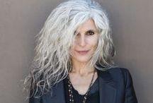 The Gray Factor / Hair styles for seniors.  Gray hair. Salt and pepper hair
