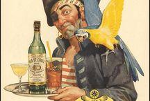 Rum Labels / Vintage rum labels artwork