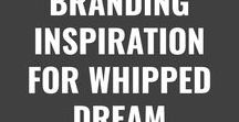 BRANDING INSPIRATION FOR WHIPPED DREAM / An example of inspirational pins I pinned to help me create my mood board and branding for my business, Whipped Dream. This is how I want my brand to essentially look and feel when you visit it. :)