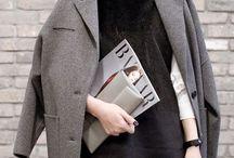fashion style winter wardrobe / clean fashion minimal chic winter style greige grey black white  Mode Winter linear clothes
