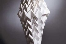fashion sculptural couture / clean minimalism pattern
