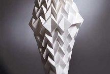 fashion sculptural couture / clean minimalism pattern