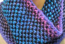 Strik / sjaler, poncho og tørklæder