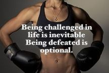 Exercise / Hard work! Determination!