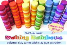 Polymer Clay Tutorials - Millefiori Canes / Tutorials, eBooks, & Instructions exclusively for polymer clay millefiori canes.
