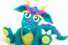 Polymer Clay Dragons & Beasts / Dragons, Beasts, & Mythical Creatures Made from Polymer Clay / by KatersAcres