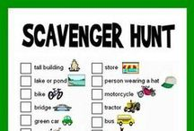 Goin' see what we can find today / All kinds of different scavenger hunts  / by Cindy Redden